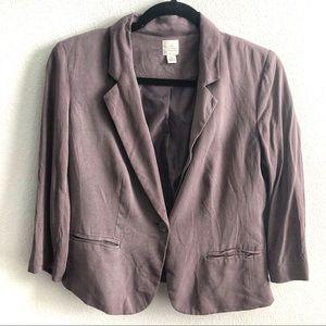 LC Lauren Conrad Purple Bow Blazer | Size 6